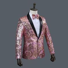 8d314428778f LONMMY Men suits for wedding Blazer men stage Sequin +Polyester terno  masculino Pink gold blazers men suits stage tuxedos Formal