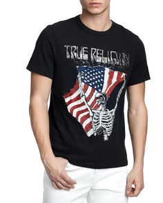 True Religion Mens Born Free Graphic T-Shirt 59b74bb09e8