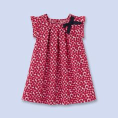 Kleid aus Liberty-Stoff - Mädchen - ROT/BUNT - Jacadi Paris