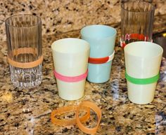 Easy Cup Labeling Solution! Problem solved for too many glasses on the counter - and super inexpensive too!