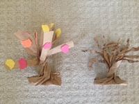 paper bag fall tree and other fun autumn ideas and songs