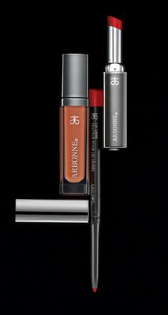 My lips are sealed with Arbonne lip products!  I coat my entire lip with the pencil first, then after I eat, my lips aren't bare!  The lipstick is moisturizing and the polish is just the right consistency.  For a neutral shade, try Satin lipstick with Brown Sugar lip polish!  For a darker lip, try Bordeaux!