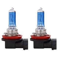 Tpfocus H9 55W 6000K Super White HOD Xenon Halogen High Beam Headlight Bulb (Pack of 2)