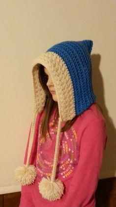#Crochet Frozen Inspired Hood Child or Adult #TUTORIAL