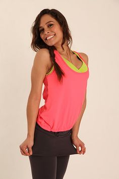 Coral + Citron + SKAPRI = cutest gym outfit EVER!  ayayay.com