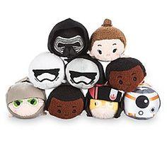 "Lot of 6 Disney Star Wars Tsum Tsum Mini 3"" Kylo Ren BB-8 The Force Awakens"