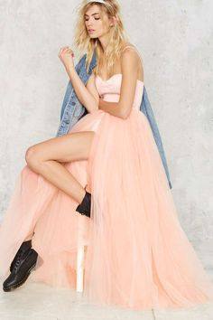 Nasty Gal Blush Hour Tulle Dress - Clothes | Going Out | Fit-n-Flare | Dresses | Party Clothes | All Party