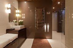 Ruskea kylpyhuone White Bathroom, Beautiful Bathrooms, Relax, House Design, Mirror, Furniture, Home Decor, Brown, Google
