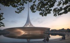 First Images Released of Foster + Partners Designs for Amaravati, the New Capital of Andhra Pradesh,Amaravati Government Complex. Image Courtesy of Foster + Partners