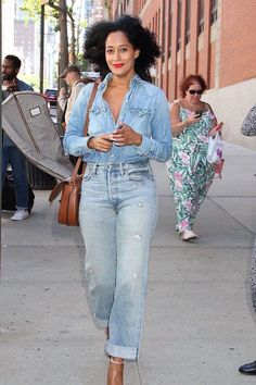 Tracee Ellis Ross denim outfit