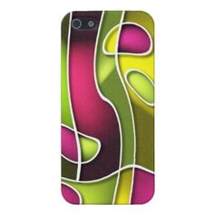 Trendy and pretty iPhone 5C case. Beautiful, bright, colorful and classic yellow, lime green, pink purple pattern design.