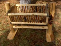 Swinging Log Baby Cradle Log Furniture Nursery Items