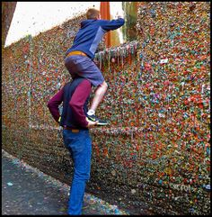 Gum wall, Seattle Washington