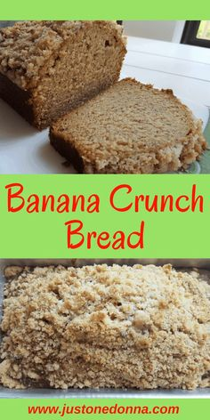 A classic banana bread with a sweet, crunchy topping. A family friendly breakfast or snack option that kids and adults love.#bananabread #quickbread