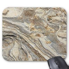 Modern Fractured Marble Stone Mouse Pad - gift idea custom