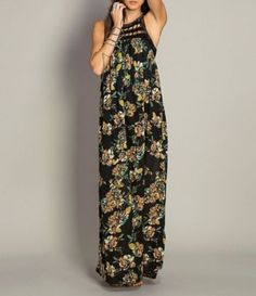 O´Neill Moore Crochet-Yoke Maxi Dress