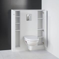 Avant apr s toilettes d co avec wc suspendu etcaetera wc pinterest av - Amenagement wc suspendu ...