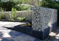 Gabionen und Holz | garden | Pinterest