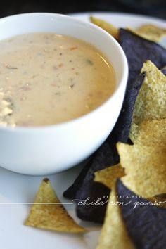 This is a childhood friend's take on queso. I've been wondering how to get the fix (because Tex-Mex queso is addictive) without using the dreaded Velveeta, so I'll have to try it.  :)