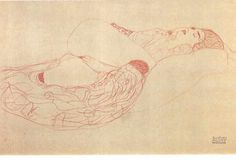 "lanangon: ""beatchild: Gustav Klimt sketches """