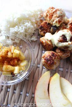 Polpette di pollo alle mele con salsa alla senape e paprika | Ricetta ed ingredienti dei Foodblogger italiani