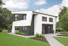 Skulpturales Architektenhaus mit Pultdach - Einfamilienhaus Design von WeberHaus Massivhaus - HausbauDirekt.de