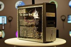 The very first Pirate Bay server, now displayed in a museum in Sweden.