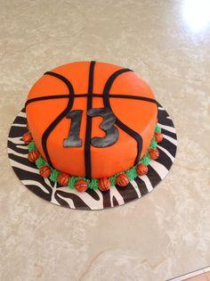 Basketball cake minus the plate Basketball Party, Basketball Birthday, Basketball Cakes, Basketball Design, Basketball Drills, Basketball Jersey, Basketball Players, My Birthday Cake, Girl Birthday