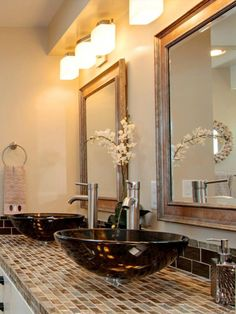 Save money without sacrificing style by scouring the internet for bargain-priced materials for your bathroom remodel. RMR user perri achieved a sleek bathroom for less than $700 with discount purchases and eBay finds.