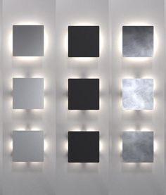 Square LED Wall Light IP44 - 3 Light Patterns