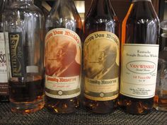 Pappy Van Winkle - for holiday, hubby got me a perfect flight from 10 year through 23 year. It is the 'pink unicorn' gift of all gifts!!