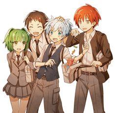 Kayano Kaede, Sugino Tomohito, Shiota Nagisa, Akabane Karma.
