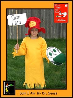 Paige - Sam I Am. Dr. Seuss - Homemade costumes for families