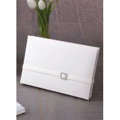 Glamour Guest Book.  White or Ivory.