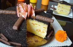 Prajitura floare de colt   MiremircMiremirc Cheesecake, Deserts, Dairy, Food And Drink, Ethnic Recipes, Pineapple, Baking, Desserts, Cheese Cakes