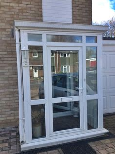 White pvcu and majority glazed porch supplied and installed by Unicorn Windows Ltd of Leighton Buzzard, Bedfordshire