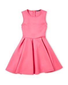 Miss Behave (Girls 7-16) Nanette Fit & Flare Scuba Dress
