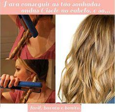Super Dicas: Dica para deixar o cabelo com lindas ondas!