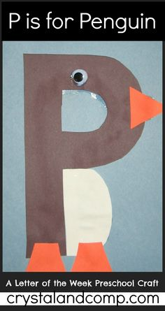 letter of the week crafts: p is for penguin #letteroftheweek #crystalandcomp
