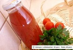 Zöldfűszeres paradicsomlé Preserving Food, Hot Sauce Bottles, Preserves, Canning, Vegetables, Automata, Red Peppers, Preserve, Vegetable Recipes