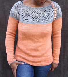 Ravelry: Knit Pullover JimiKnits' SpringTime Snowflake