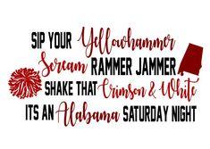 Alabama Crimson Tide, Roll Tide, Vinyl Projects, Vinyl Designs, Cricut, Silhouette, Etsy, Crafts, Manualidades