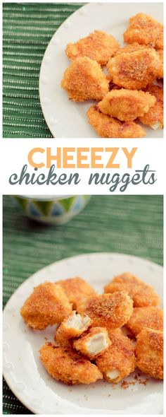 Skip the frozen food aisle and make these cheezy chicken nuggets at home!