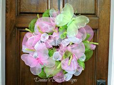 Hey, I found this really awesome Etsy listing at https://www.etsy.com/listing/176262574/spring-deco-mesh-wreath