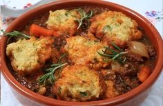 stew with herby dumplings Quorn stew with herby dumplings - probably would do nicely in the slow cooker.Quorn stew with herby dumplings - probably would do nicely in the slow cooker. Quorn Recipes, Veggie Recipes, Healthy Recipes, Vegetarian Recipes Quorn, Quorn Meals, Lunch Recipes, Healthy Meals, Lunch Meals, Delicious Meals