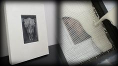 Printmaking using Plaster of Paris -- No press or paper required!