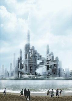 Cloud Citizen City winning entry of Shenzhen Bay | UFO