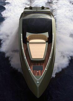 ♂ masculine and elegance olive Lambo speedboat