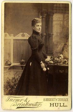 SALE - Antique Cabinet Card Photograph - Victorian Lady circa 1890s. £4.00, via Etsy.