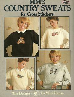 Mimi's Country Sweats WC Cross Stitch Patterns Rag dolls Amish Angel Rabbit